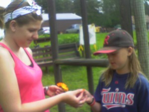 A new item in the garden this year are edible flowers.  Kids are having so much fun eating flower petals!